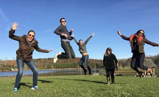 Earth's Friends jumping for joy in NC
