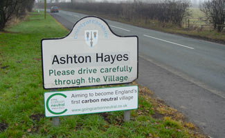 Ashton Hayes sign