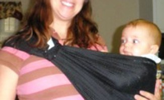 Mom and baby in sling