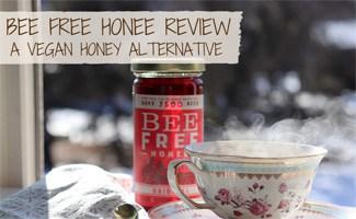 Jar of Bee Free Honey and cup of tea (caption: Bee Free Honee: a vegan honey alternative)