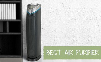 Air purifier on floor