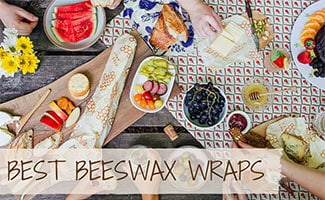 Picnic with group using beeswax wraps