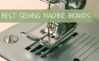 Close up of needle on sewing machine