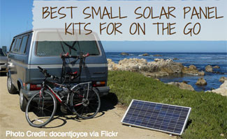 Camper with bike and solar panel