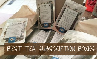 Tea bags in subscription box