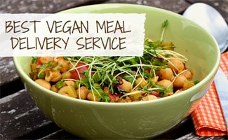 Bowl of vegan food