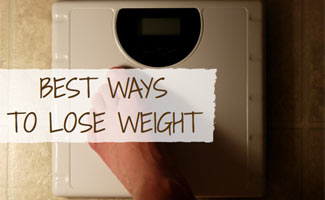 Person standing on scale: Best Ways to Lose Weight