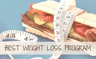 Sandwich with measuring tape (caption: Best Weight Loss Programs)