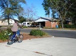 Kid riding bike
