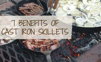 Bacon and onions in cast iron skillet