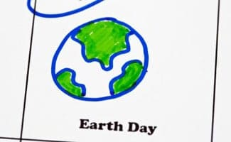 Earth day on the calendar