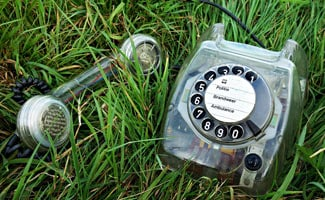 Telephone in grass: Contact Us