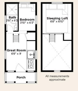 Elm Tiny Home Floor Plan House Plans  Think Big Live Small Earth S Friends