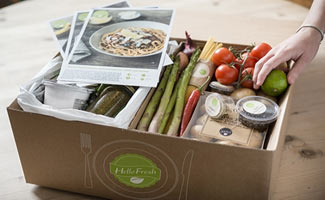 Open Hello Fresh box