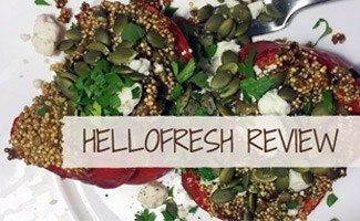 HelloFresh meal on plate: HelloFresh Review