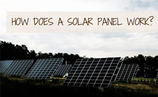 Solar panel (caption: how does a solar panel work)