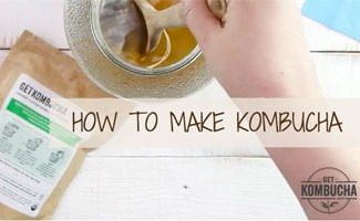 Person making Kombucha