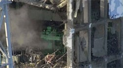 Inside fukushima reactor