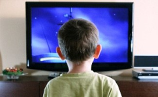 Kid watching TV