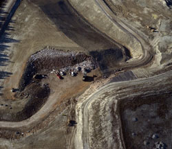 Landfill from above