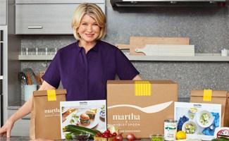 Martha & Marley Spoon Box in kitchen