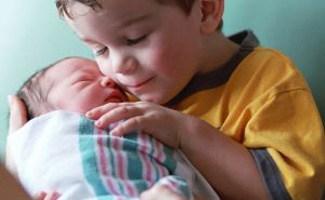 Newborn and brother
