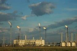Oil refinery smog