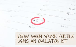 Circle on calendar: Best Ovulation Kits