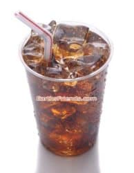 Plastic cup of soda
