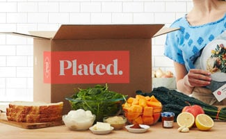 Plated box open on counter