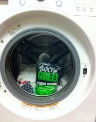 Rocking green detergent in dryer
