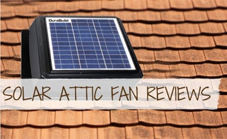 Solar Attic Fan on roof