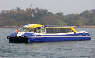 Solar ferry on water