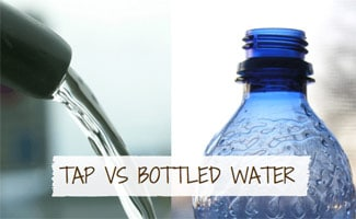 Water fauce and botle of water: Tap Water Vs Bottled Water