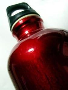 Tin water bottle