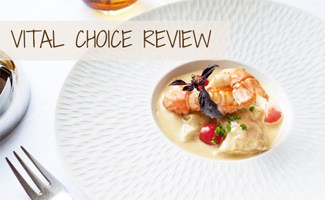 Seafood plated with fork (Caption: Vital Choice Review)