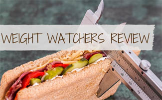 Food with ruler (caption: Weight Watchers Review)