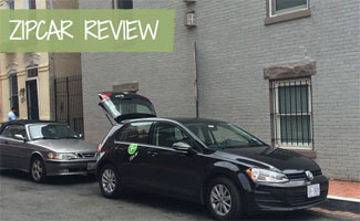 Parked zipcar on street